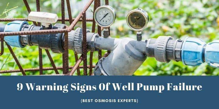 how to tell if your well pump is going bad