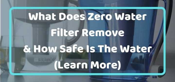 does zerowater filter remove fluoride